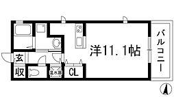 大阪府箕面市桜井2の賃貸アパートの間取り