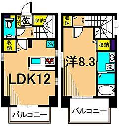 JR京浜東北・根岸線 大井町駅 徒歩2分の賃貸マンション 5階1LDKの間取り