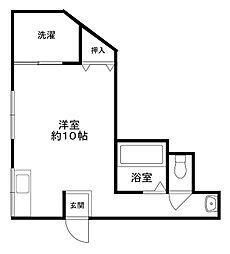 高瀬マンション3階Fの間取り画像