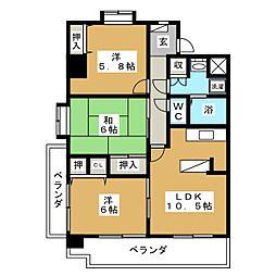 クレスト・コート[4階]の間取り