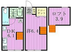 ティロフィナーレ松戸[A-5号室]の間取り