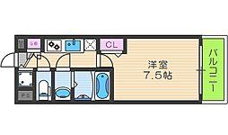フォーリアライズ天神橋ルーチェ 9階1Kの間取り