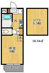 パレスヒル津田沼[1階]の間取り