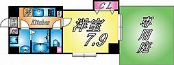 JR東海道・山陽本線 六甲道駅 徒歩5分の賃貸マンション 1階1Kの間取り