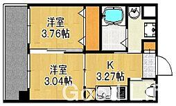ネストピア平尾駅前[9階]の間取り