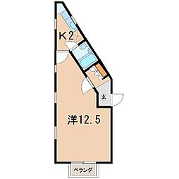 チェリーハウス(堀河町)[A-2号室]の間取り