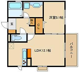 (仮称)D-room法善寺 B棟[1階]の間取り
