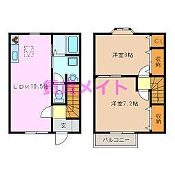 Habitation M 1階2LDKの間取り