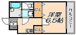兵庫県神戸市東灘区深江本町2丁目の賃貸アパートの間取り