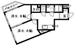 ティアラ植松[2階]の間取り