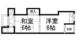 西川第2住宅[0103号室]の間取り