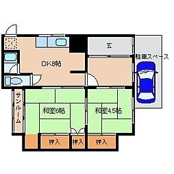 前園アパート[1階]の間取り