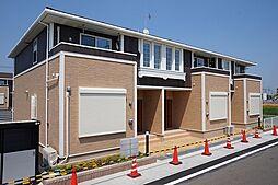 群馬県伊勢崎市境百々の賃貸アパートの外観