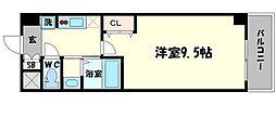 セブンレジデンスニッポンバシ 7階1Kの間取り
