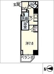 S−RESIDENCE名駅 2階1Kの間取り
