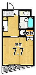 メゾン徳大寺[201号室]の間取り