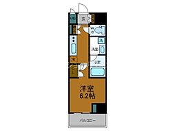Osaka Metro堺筋線 長堀橋駅 徒歩5分の賃貸マンション 4階1Kの間取り