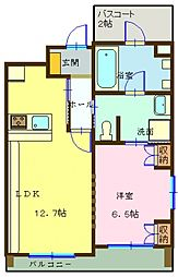 埼玉県三郷市中央5丁目の賃貸マンションの間取り