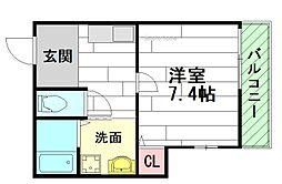 ロイヤルワン中穂茨木[2階]の間取り