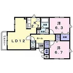 五稜郭ピュア-I[1階]の間取り
