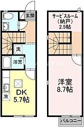 [テラスハウス] 岡山県岡山市南区福島3丁目 の賃貸【/】の間取り
