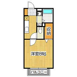 京都府京都市伏見区深草相深町の賃貸アパートの間取り