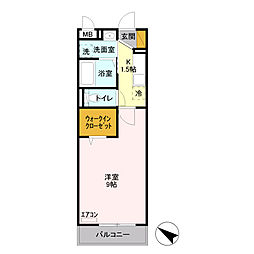 埼玉県八潮市大瀬5丁目の賃貸アパートの間取り