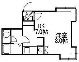 リラハイム円山[1号室]の間取り