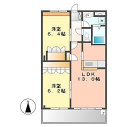 スウィート[1階]の間取り