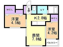 Lunon Sapporo Sta. 5階2LDKの間取り