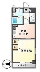太閤通マンション[3階]の間取り