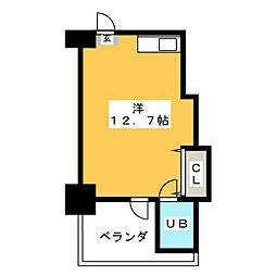 エコノビルII[4階]の間取り