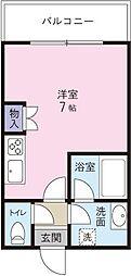ロイヤルシティ荒田[5階]の間取り