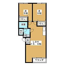 メープルタウンC[1階]の間取り