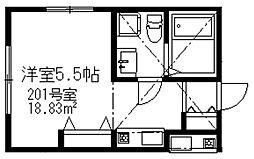 アーバンコート二俣川A棟[201号室]の間取り