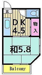 第三五月荘[201号室]の間取り