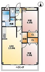 GRACE大井II[2階]の間取り