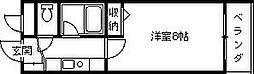 兵庫県西宮市川西町の賃貸マンションの間取り