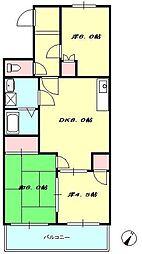 ロイヤルハイツ II[3階]の間取り
