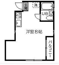 香川県高松市室新町の賃貸マンションの間取り
