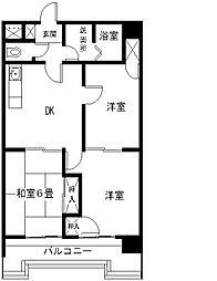 茨城県つくば市吾妻4丁目の賃貸マンションの間取り