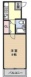 アトレ万寿寺[5B号室号室]の間取り