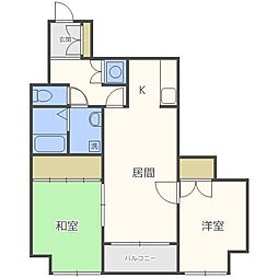 グリシーヌ41[4階]の間取り