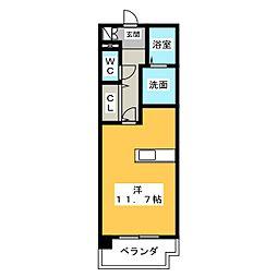 サウスヒルズ緑 B棟[2階]の間取り