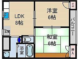 オーク135[3階]の間取り