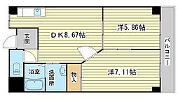 ル・マンド三宅[303号室]の間取り