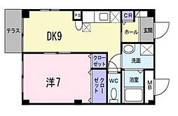 広島県広島市南区東雲3丁目の賃貸アパートの間取り