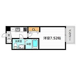 JR大阪環状線 京橋駅 徒歩5分の賃貸マンション 4階1Kの間取り