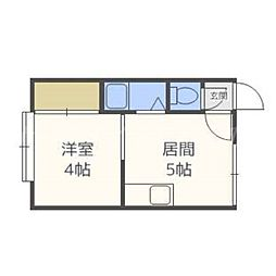 北海道札幌市東区北十四条東14の賃貸アパートの間取り