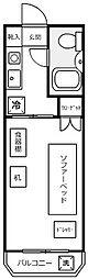 ハイタウン大倉山No2[4階]の間取り
